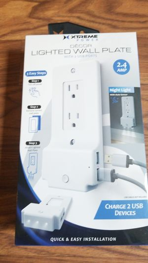 Lighted wall plate with 2 USB ports for Sale in Renner, SD