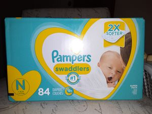 PAMPERS DIAPERS SWADDLERS SUPER PACK for Sale in Huntington Beach, CA