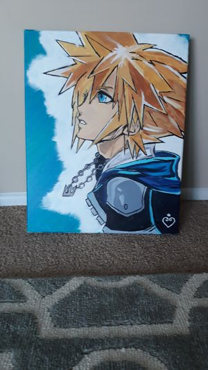 Kingdom hearts Sora painting for Sale in North Olmsted, OH