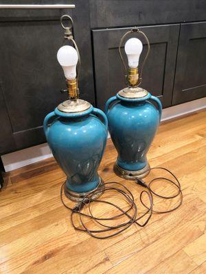 Vintage Turquoise Lamp Set - Antique for Sale in Rockville, MD