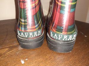 Ralph Lauren rain boots size 11 for Sale in Atlanta, GA
