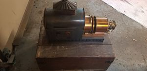 Antique (early 1900s) Magic Lantern Slide Projector in Crate for Sale in Prospect Heights, IL