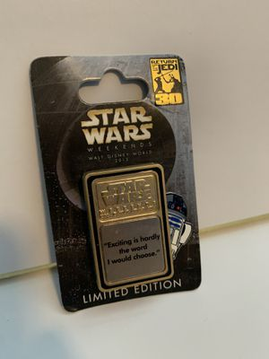 Disney Star Wars Weekends 2013 C3po & R2d2 Pivot Pin Return Of The Jedi for Sale in Orlando, FL