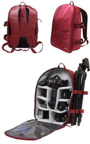 New in box Dark Red Deluxe SLR Camera Cushion Backpack Tripod Holder 13x7x16 inches for Sale in Los Angeles, CA