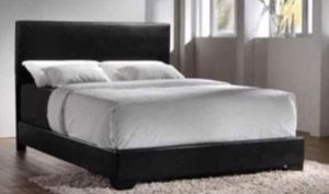 Black Queen Bed Frame with Mattress Set!!Brand New Can Deliver for Sale in Chicago, IL