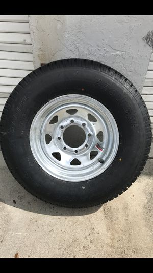 235-80-16inch radial trailer tires on 6 or 8 lug galvanized wheels. $140/each for Sale in Fort Lauderdale, FL