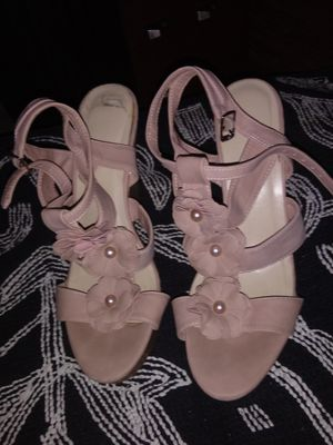 Pale Pink Wedges Up Heels Size 9 | for Sale in Sacramento, CA