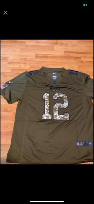 New England Patriots #12 Military Salute To Service Jersey for Sale in Manchester, CT