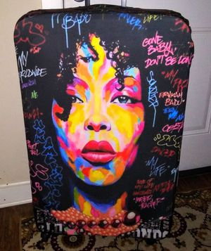Suitcase COVER of Erykah Badu new thick with zipper large case not included for Sale in Smyrna, GA