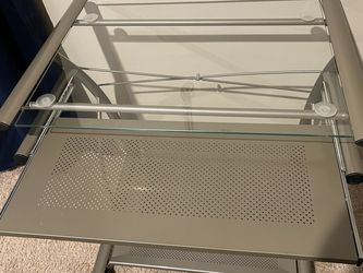 glass desk for Sale in Lorton,  VA