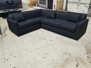 NEW 7X9FT DOMINO BLACK FABRIC SECTIONAL COUCHES for Sale in Aliso Viejo, CA