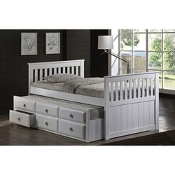 Brand new twin over twin Trundle bed frame with 3 drawers for Sale in Chino,  CA