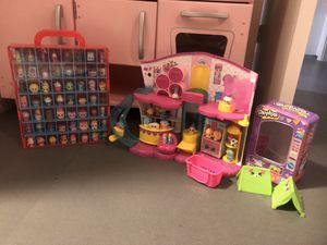 Shopkins collection with shop and display box. over 50 shopkins! for Sale in Coral Gables, FL