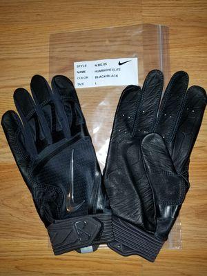 Brand New Nike Huarache Elite BLACK BLACK Baseball Batting Gloves Adult Large Top of the line batting gloves for Sale in West Covina, CA