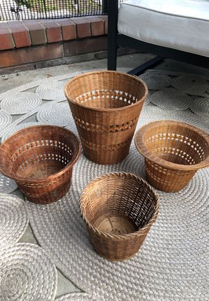 Vintage Plant Baskets as a Set or Separately for Sale in Los Angeles, CA