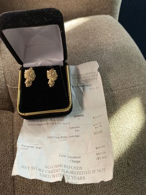 10k solid gold nugget earrings for Sale in Fremont, CA