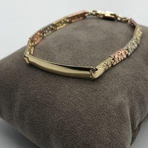 14k Tri tone Kids Nugget Bracelet Esclava de oro for Sale in Paramount, CA