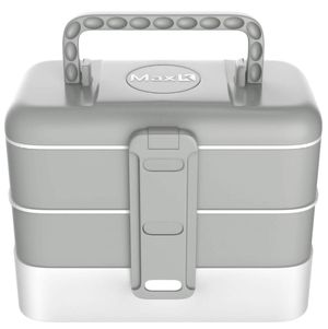 Bento Box for Kids and Adults - Japanese Style Lunchbox with 3 Trays, Cutlery, Handles - No-BPA, Leak-Proof Sandwich, Meal & Snack Container - Hot & for Sale in Santa Ana, CA