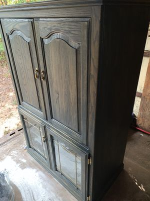 Solid Wood Entertainment Center for Sale in Greenville, SC