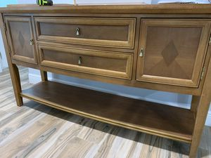 Sideboard buffet dining room furniture console sidebar table - READ for Sale in DeBary, FL