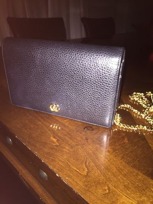 Gucci Petite GG Marmont Leather Flap Wallet for Sale in Missouri City, TX