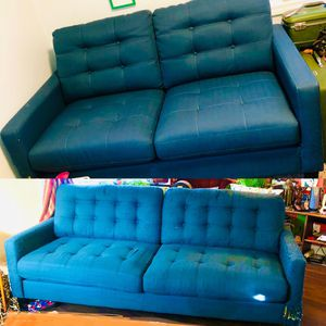 Mid Century Modern Teal Blue Couches (SET, Can Be Broken Up) for Sale in Vancouver, WA