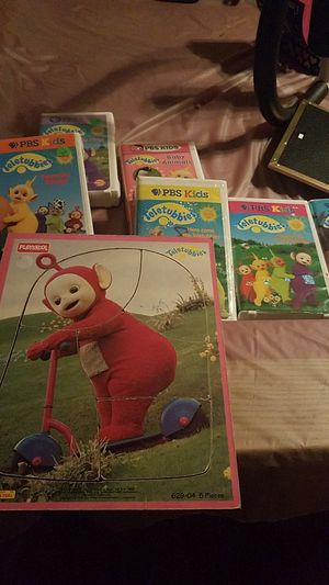Teletubbies puzzle, memory game and 6 video cassettes for Sale in Glendale, AZ