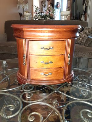 Older wood jewelry box chest drawers mirror for Sale in South Windsor, CT