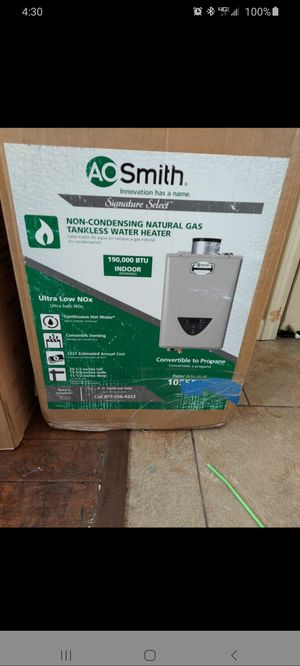 """A.O Smith Water Heater """"Tankless"""" for Sale in Modesto, CA"""