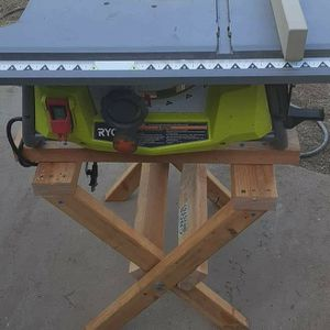 """Ryobi 10"""" Table Saw With HOME MADE STAND & FENCE (PRICE IS FIRM) for Sale in Phoenix, AZ"""
