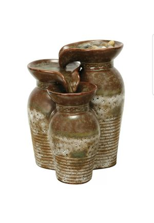 Tuscany Triple Vase Water Fountain - Indoor Table Fountain for Sale in Island Lake, IL
