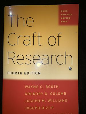 The Craft Of Research fourth Edition for Sale in Auburn, WA