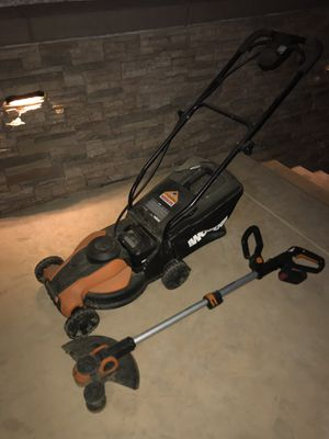 Electric Lawn Mower and Weed Trimmer Worx for Sale in Corona, CA