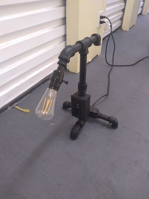 Custom Made Industrial Style Desk Lamp With USB Outlet for Sale in Oceanside, CA