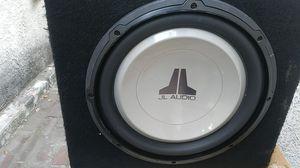 10 inch JL Audio speaker in slim box for Sale in San Bernardino, CA