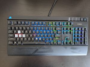 Corsair Straf RGB Gaming keyboard (blue switches) for Sale in Queens, NY