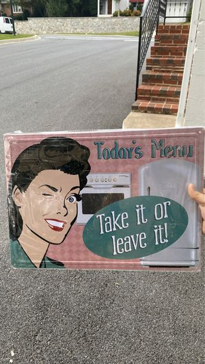 Metal kitchen sign for Sale in Middletown, MD