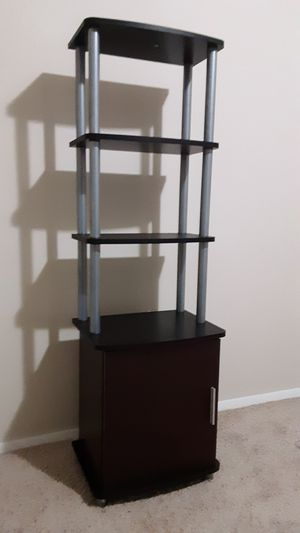 Carson Audio Pier/Bookcase, Black & Cherry (New & Assembled) for Sale in Indianapolis, IN