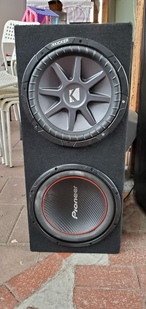 12' subwoofers with amplificador for Sale in Los Angeles, CA