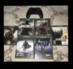 Xbox One games and controller $55 Read Description for Sale in Bakersfield, CA