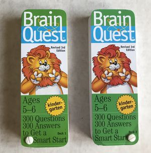 Brain Quest Kindergarten ages 5-6 for Sale in Mountlake Terrace, WA