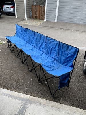Multiple attached camping chairs for Sale in Puyallup, WA