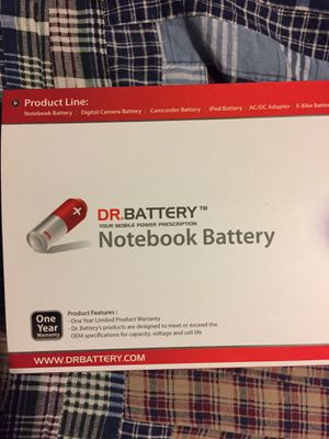 DR.Battery. Notebook battery- Brand new for Sale in La Grange Highlands, IL