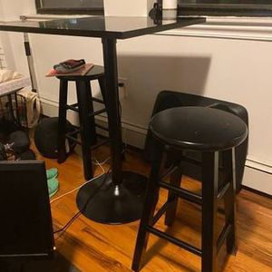 High top table and two stools for Sale in Queens, NY