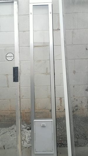 Doggy door 12 x80 adjustable height for Sale in Phoenix, AZ