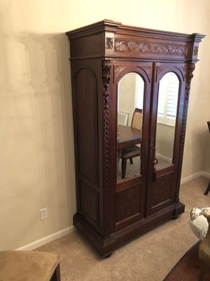 Mahogany armoire hutch dresser etc for Sale in Tracy, CA