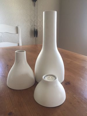 Modern style vases and candle holder for Sale in Brea, CA