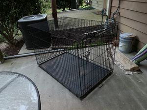"Large Dog Cage Foldable Metal Dog Crate, 48"" L X 30"" W X 32"" H for Sale in Cary, NC"