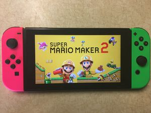 NINTENDO SWITCH + 100 GAMES MARIO KART, MARIO MAKER 2, LUIGIS MANSION 3, ZELDA, AND 3000 CLASSIC GAMES for Sale in San Diego, CA
