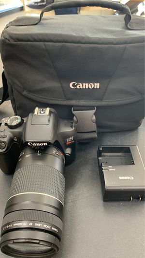 Canon rebel t6 with 75-300mm lens for Sale in San Antonio, TX